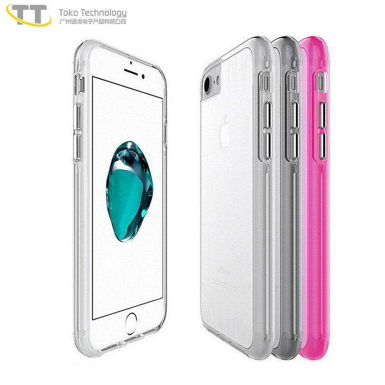 Hot sale for iphone 8 covers case privat logo shockproof 2017,cellphone covers clear for iphone 8 case and screen protector
