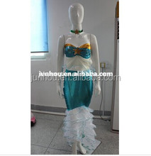 Adult drop ship carnival junhou Quanzhou China manufacturer party ladies cosplay mermaid Halloween Costume S-2XL