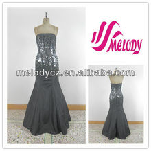 Trendy style shining paillettes beaded deep gray 2013 evening dresses america