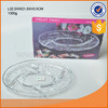 Decorative clear glass round plate with embossment salad plate
