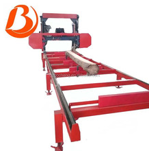 Electric or diesel engine horizontal portable band sawmills for wood cutting