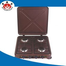 4 burner convenient gas cooktop glass