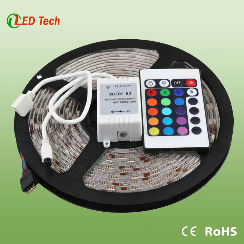 High Luminous Ruban LED RGB 5050 Kit Complet- 60Led/M - IP65,led fita and tira de led can beordered.