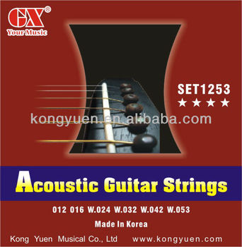 bronze stainless steel acoustic guitar strings