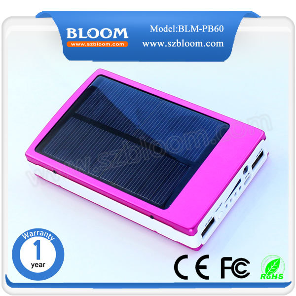 Top selling 20000mah dual usb port external solar power banks