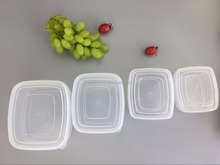 Eco-friendly baby food container/3 pcs plastic food storage box set /clear food container seal