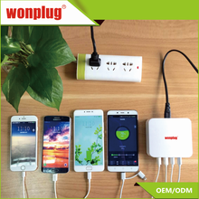 Wonplug Newest design multi usb phone travel wall charger 4 USB ports