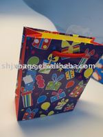 lovely kids decorate gift paper bag