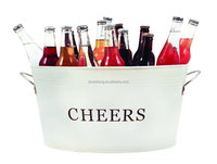 Large Oval Metal Ice Bucket / Party Tub