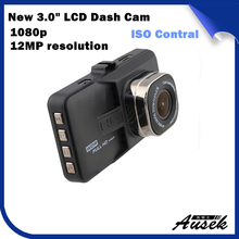 3.0 inch TFT LCD car camera recorder full hd 1080p camera recorder 120 degree dvr car camera video recorder