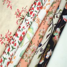 100% polyester custom floral printed chiffon <strong>fabric</strong>