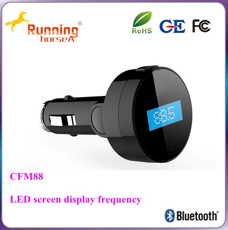 Fm transmitter bluetooth single USB car charger
