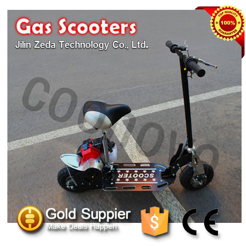 2 wheel 49cc gas scooter/49 cc gasoline scooter with gas engine