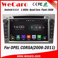 WECARO DVD Supplier 2 Din Touch Screen Android Car GPS Navigation for Opel Corsa d 2006 - 2011