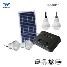 PS-K015 protable mini 8W 10.8V LED solar power kit home lighting system with phone charger for indoor outdoor emergency lighting