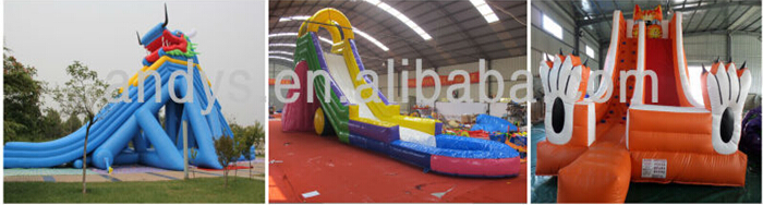 free shipping large water slide inflatable trampoline,outdoor water slide with pool,CE inflatable water slide