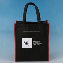 Black foldable non woven bag for shopping