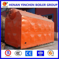 New type biomass waste fuel wood sawdust rice husk fired steam boiler