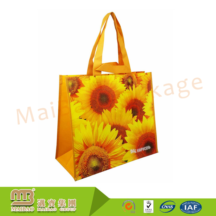 China Wholesale Cheap Promotional Custom Logo Printed Fabric Tote PP Laminated Non-Woven Shopping Eco Bags