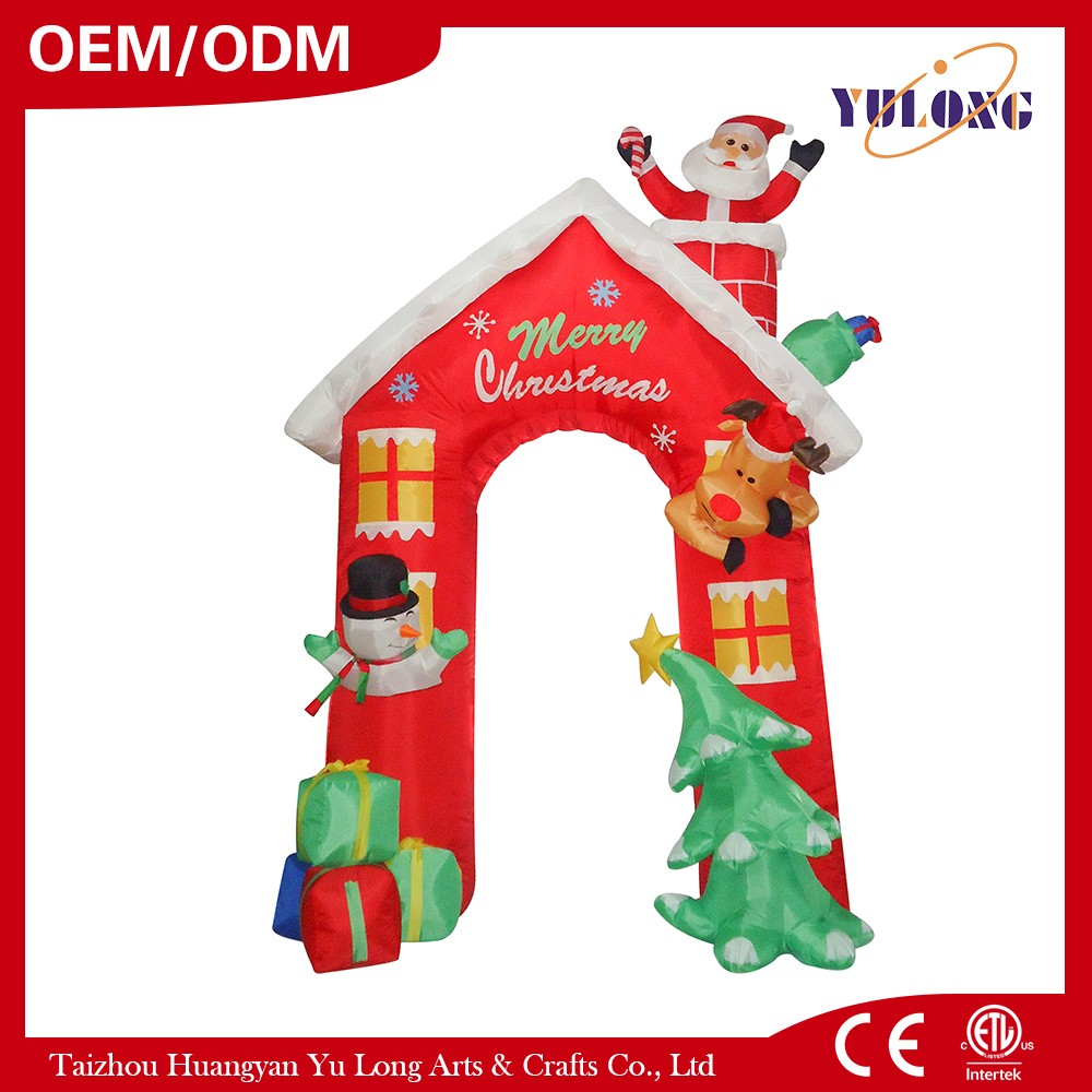 Santa Claus House arched door christmas lighting decorations outdoor