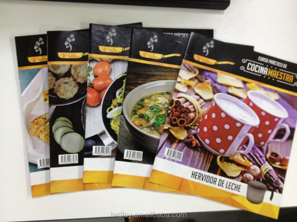 Customized food design Brochure printing on demand from factory