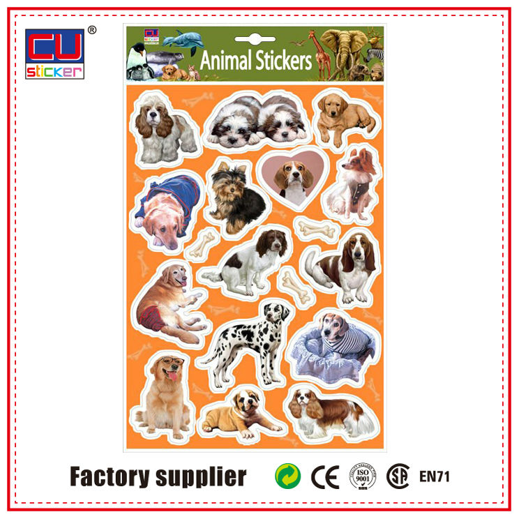 china home decor wholesales live animals zoo stickers for kids