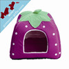 High standard wholesale soft plush fur fabric dog house