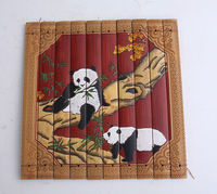 wall decoration panel--bamboo carving / Panda
