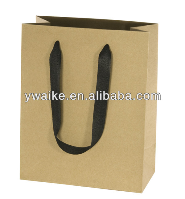 Brown kraft paper bag with handle