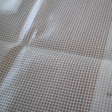 Clear white transparent mesh tarps for greenhouse
