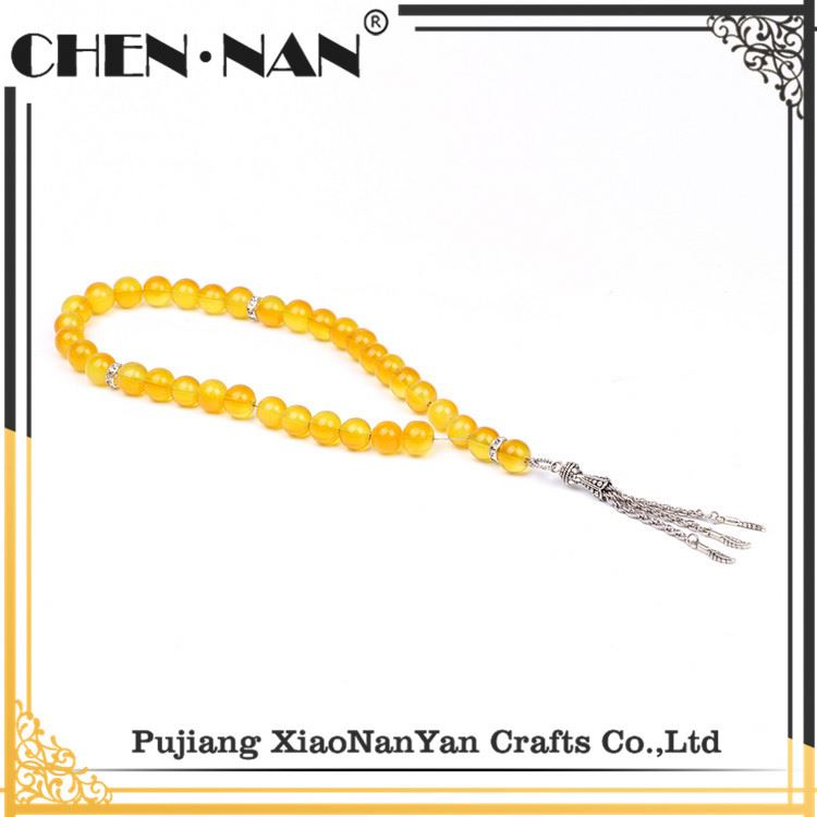 Pujiang crystal glass muslim prayer beads