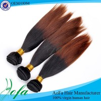Wholesale Two Tone Color Remy Straight Hair Extension