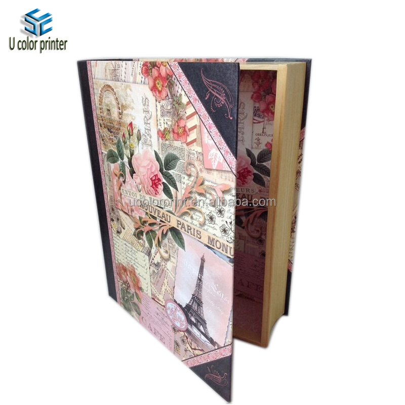 Elegant Fake Wood Box Paper Material Made Book box