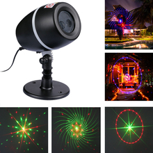 IP65 Outdoor Waterproof 120V 220V Christmas Mini Star Dot Pattern Laser Light Projector For Garden Home Decoration