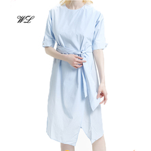 women casual dresses with belt ladies simple fashion dress design