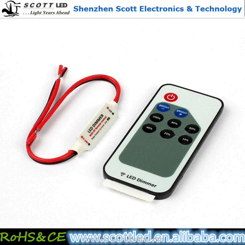 Hot Sale Wireless RF Remote RGB LED Light Controller