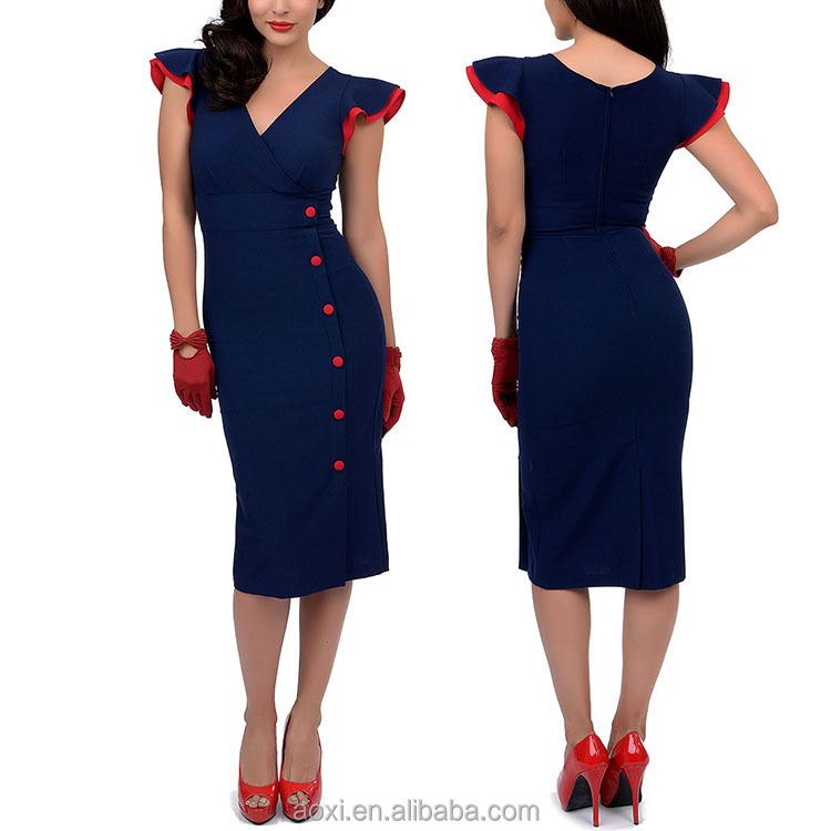 Clothing supplier binding cap sleeve bodycon style knee length women tight fit dress