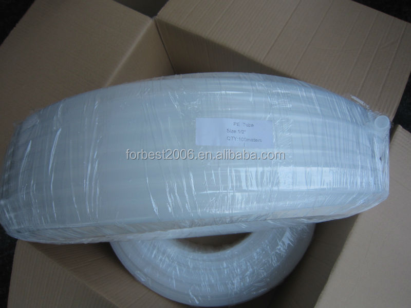Extruded FDA blue Line low density LLDPE tube,PE plastic tubes,pe tubing