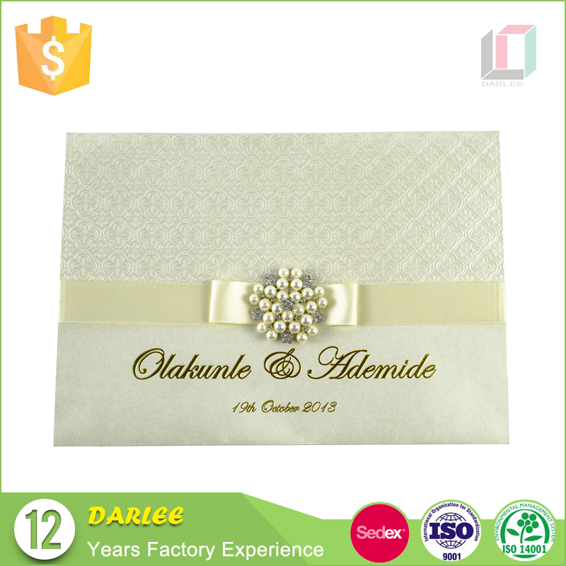 Custom creative indian design embossed luxurious card wedding invitation