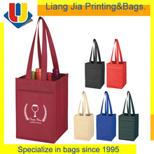 Promotional Custom Printed 4 Bottle Non Woven Wine bags