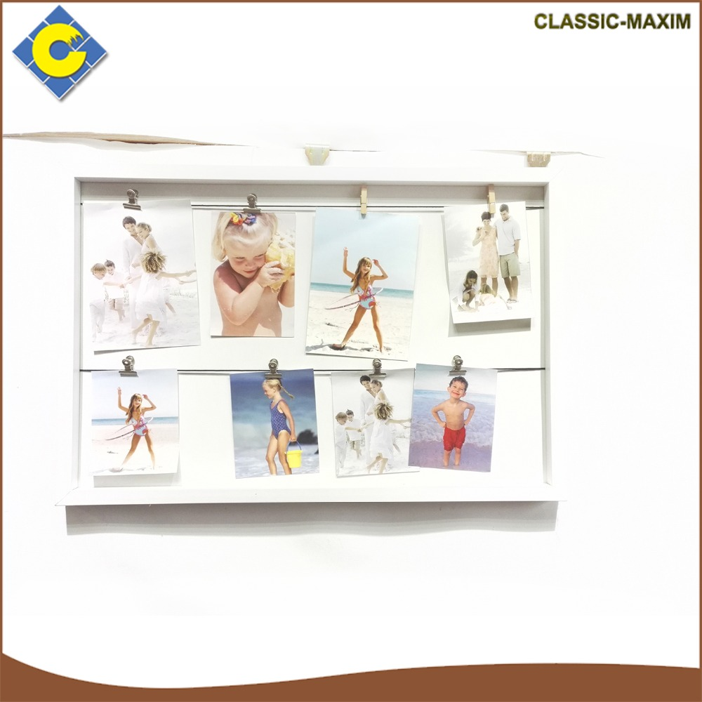 Wholesale white fashionable wall hanging picture photo frame in hot sale