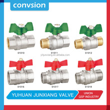 Free sample 3/4 inch new red butterfly handle Forged brass ball valve for water filter dn32