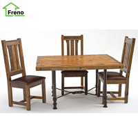 Wooden Dining Set 4 Seaters Solid Wood Table And Chairs