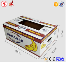 Beautiful banana carton box with handle hole