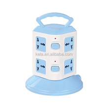Universal Type Two Layer Extension Socket Tower Power Strip With Overload Protection