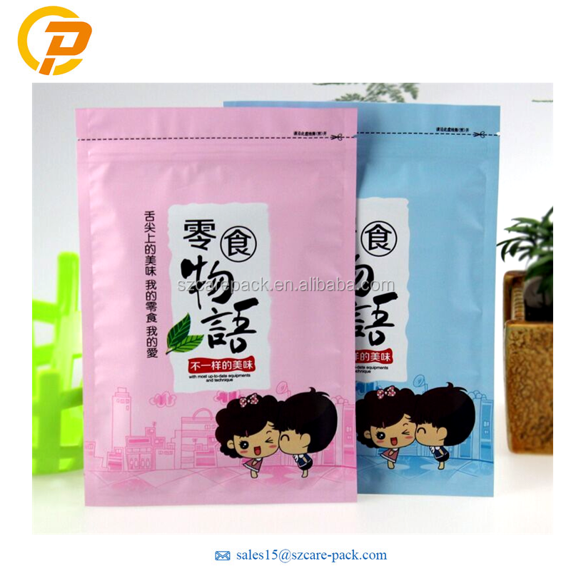 Heat Sealing Top Zip Laminated Plastic Packaging Pouch Food Packaging Factory