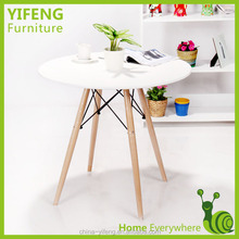 MDF top solid wood legs dining table/dining room table