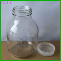 640ml glass mushroom cultivate bottle with scale line