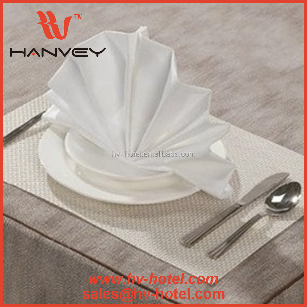 High quality hotel and restaurant wholesale reusable natural linen party cocktail fabric embroidered beverage napkins