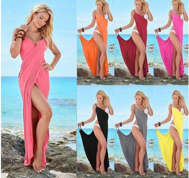 10 Colors sexy girls beach dress long dress for beach maxi dress with plus size
